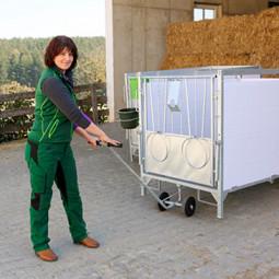 Chariot de transport pour case à veaux