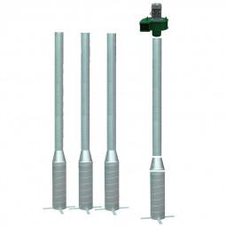 kit de ventilation comprenant 4 colonnes et un ventilateur pour céréales