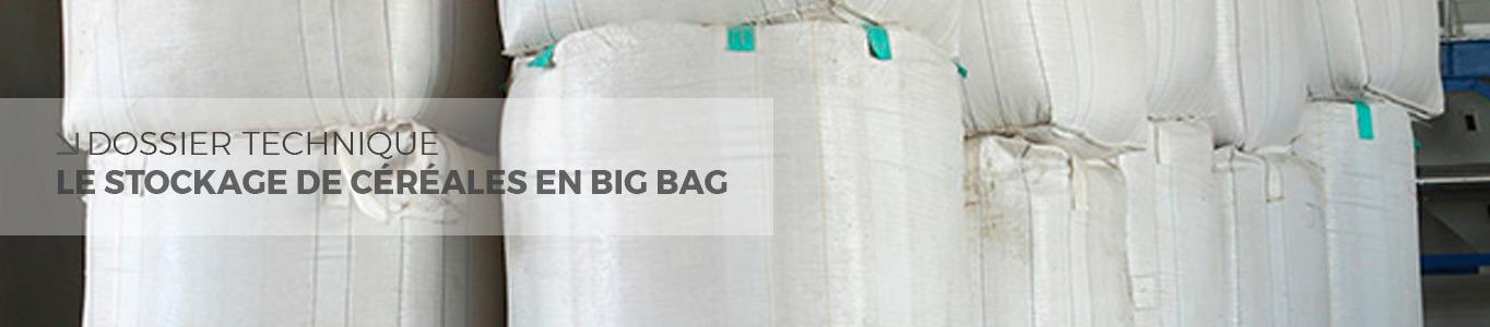 stockage de céréales en big bag