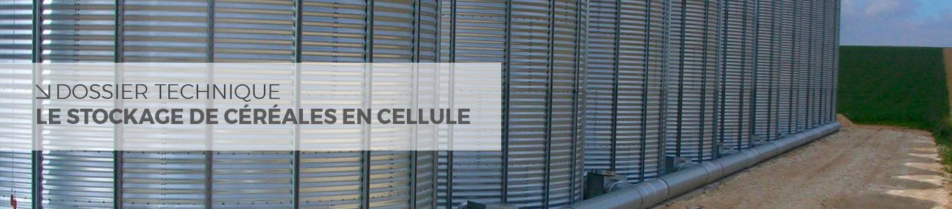 stockage céréales en cellule